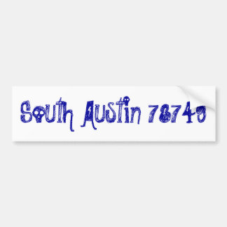 Austin del sur 78749 Bumpersticker Etiqueta De Parachoque