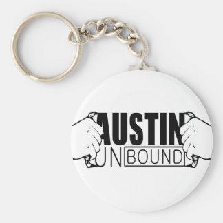 Austin desató el logotipo llavero redondo tipo pin