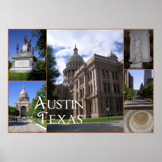 Austin, edificio del capitolio del Tejas-State Impresiones