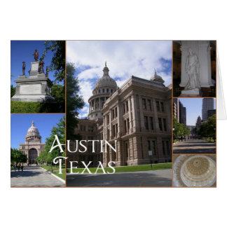 Austin, edificio del capitolio del Tejas-State Felicitaciones