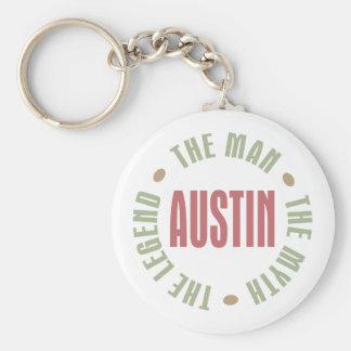 Austin el hombre el mito la leyenda llaveros personalizados