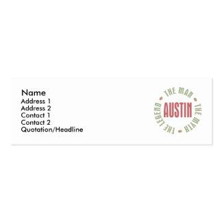 Austin el hombre el mito la leyenda tarjeta de visita