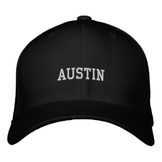 Austin Embroidered Baseball Hat