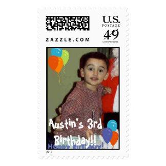 ¡Austin en el revestimiento de Santa, el 3ro Sellos Postales