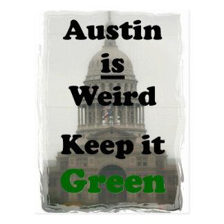 Austin es extraño lo mantiene verde postal