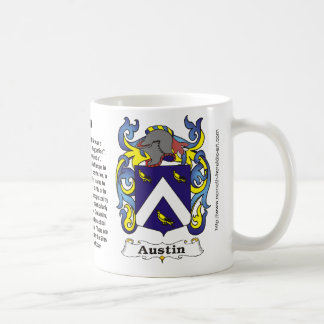 Austin Family Coat of Arms Mug