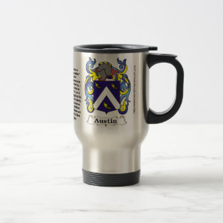 Austin Family Coat of Arms on a Travel Mug