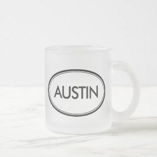 Austin Frosted Glass Coffee Mug