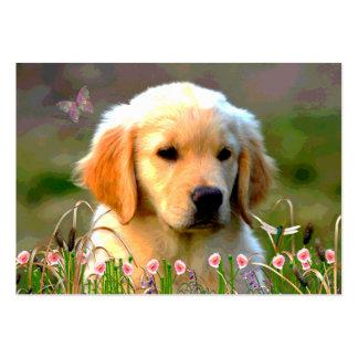 Austin Golden Labrador Puppy Business Card Template
