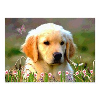 Austin Golden Labrador Puppy Card