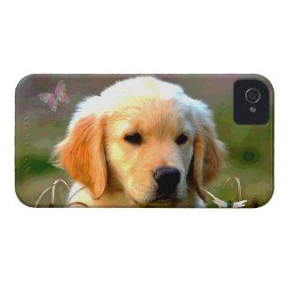 Austin Golden Labrador Puppy iPhone 4 Case-Mate Cases