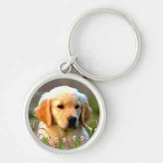 Austin Golden Labrador Puppy Keychain