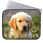 Austin Golden Labrador Puppy Laptop Computer Sleeve