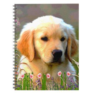 Austin Golden Labrador Puppy Spiral Notebook