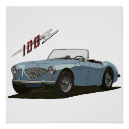Austin Healey 100 Poster