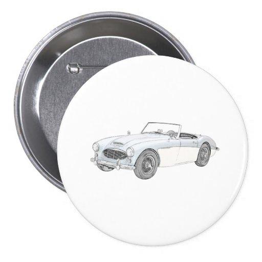 Austin Healey 1960 Pinback Button