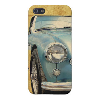 Austin Healey 3000 blue on white iPhone SE/5/5s Cover
