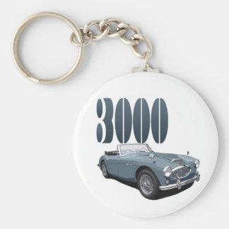 Austin Healey 3000 Basic Round Button Keychain