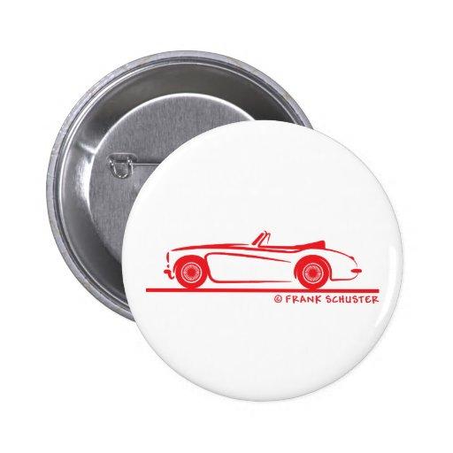 Austin Healey  3000 MK II Pinback Buttons