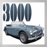 Austin Healey 3000 Poster