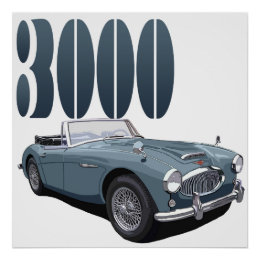 Austin Healey 3000 Poster