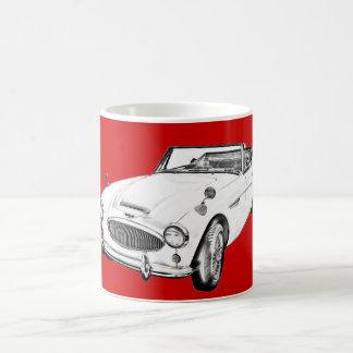 Austin Healey 300 Sports Car Illustration Coffee Mug