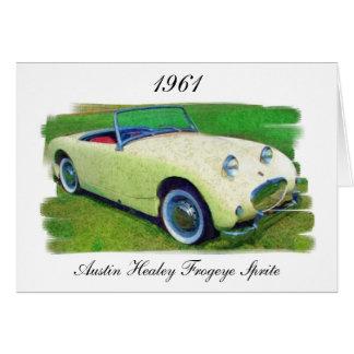 Austin Healey Frogeye Sprite, 1961 Card