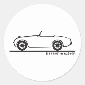 Austin Healey  Sprite Classic Round Sticker