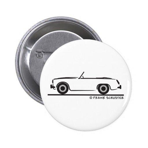 Austin Healey  Sprite MK II Pinback Buttons