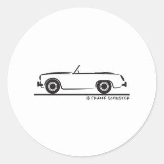 Austin Healey  Sprite MK II Classic Round Sticker