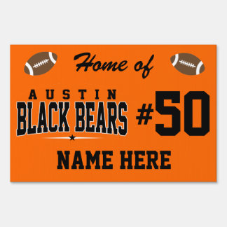 Austin High School; Black Bears Lawn Sign