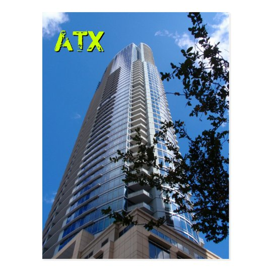 Austin Highrise with Tree Postcard