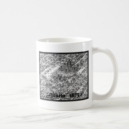 Austin Historic Map 1873 Coffee Mug