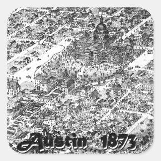 Austin Historic Map 1873 Square Sticker