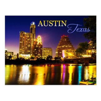 Austin, horizonte de Tejas en la noche Postales