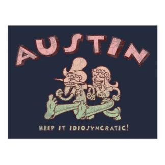 Austin idiosincrásico tarjetas postales