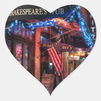 Austin, imagen de la calle de Tejas Calcomanía De Corazón Personalizadas