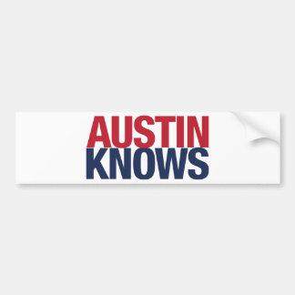 Austin Knows Bumper Sticker