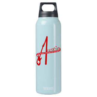 Austin, Live Music Capital of the World Insulated Water Bottle