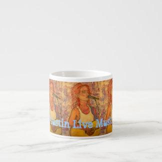 Austin Live Music Girl Espresso Cup