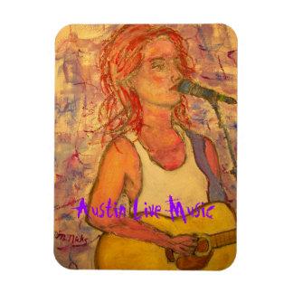 Austin Live Music Girl Magnet