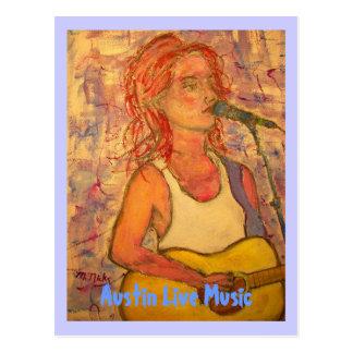 Austin Live Music Girl Postcard