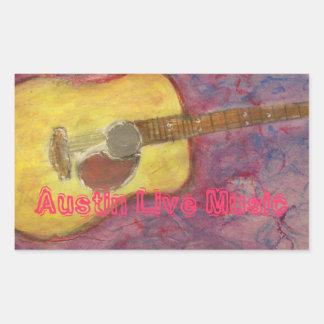 Austin Live Music Rectangular Sticker