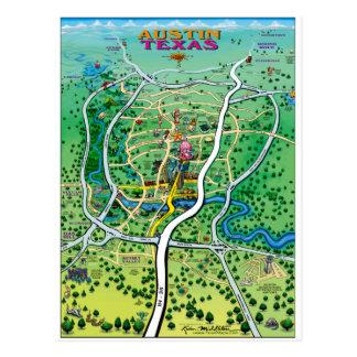 Austin Map Postcard