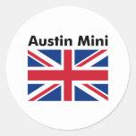 Austin mini pegatina redonda