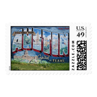 Austin Mural Postage Stamp