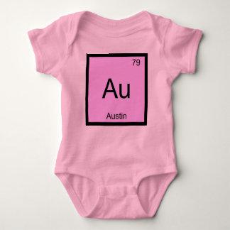 Austin Name Chemistry Element Periodic Table Baby Bodysuit