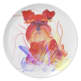 Austin Painted with Light Melamine Plate