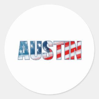 Austin Etiquetas Redondas