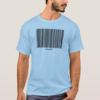 Austin Personalized Functional Barcode Tee